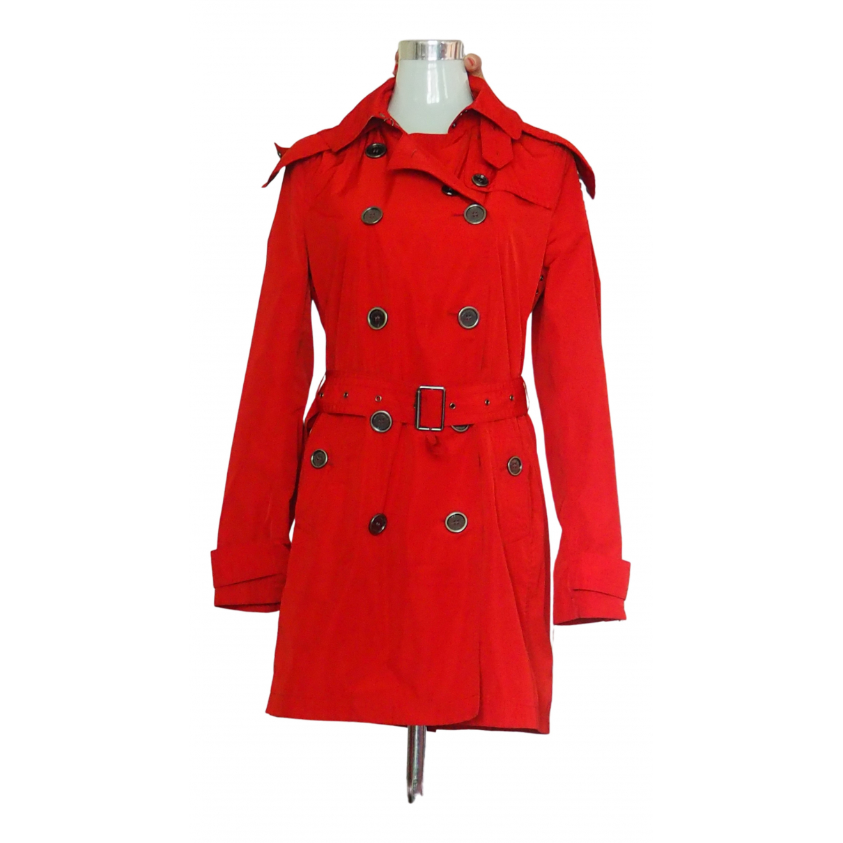 Burberry \N Red Trench coat for Women 42 IT