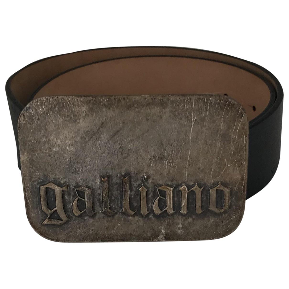 Galliano \N Guertel in  Silber Leder