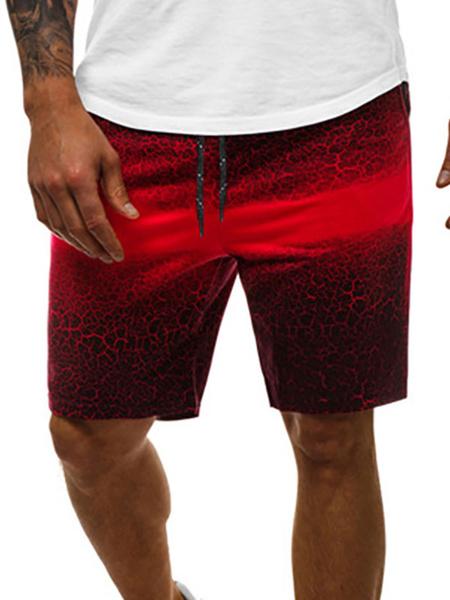 Milanoo Pantalones cortos para hombre Bloque de color Cintura con cordon Verano Ciclismo Pantalones de playa negros