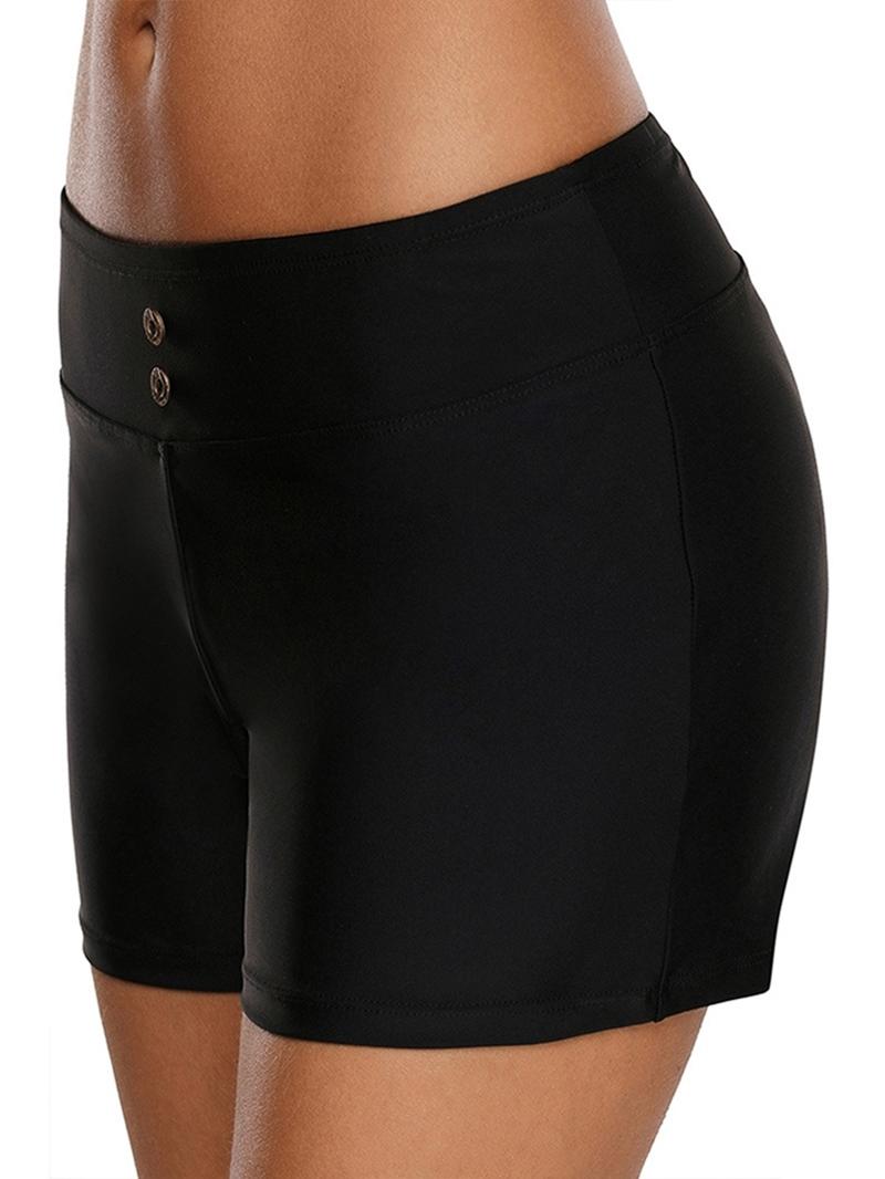 Ericdress Plain Button Simple Board Shorts