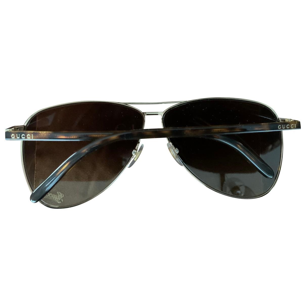 Gucci \N Brown Metal Sunglasses for Women \N