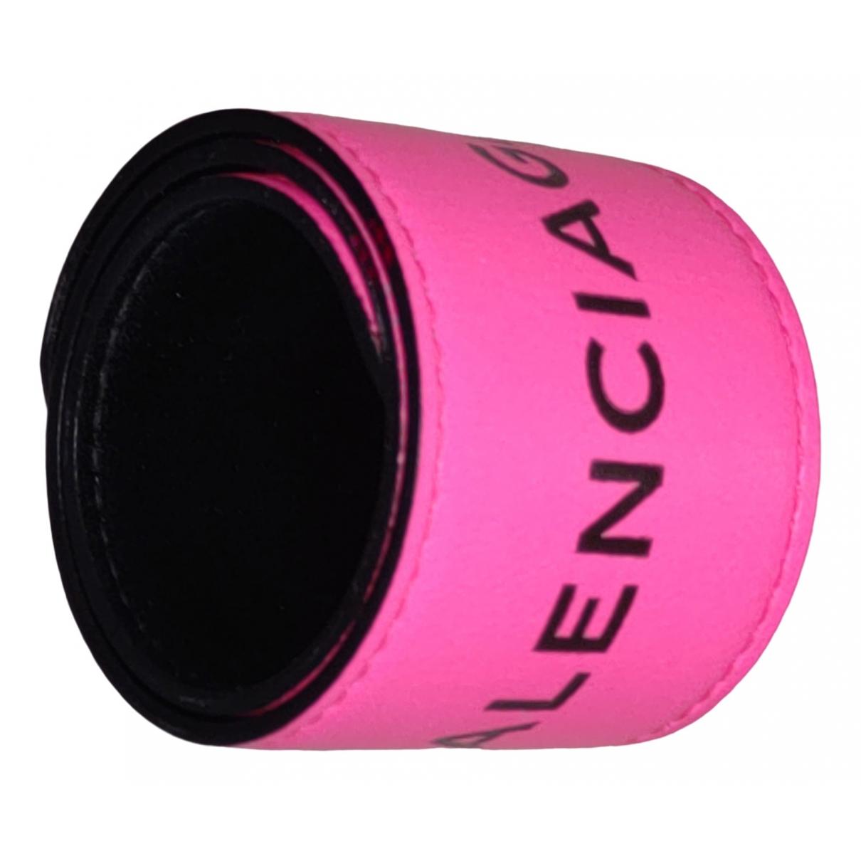 Balenciaga \N Pink Leather bracelet for Women \N