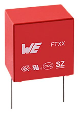 Wurth Elektronik 100nF Polypropylene Capacitor PP 310V ac ±10% Tolerance WCAP-FTXX Series (50)