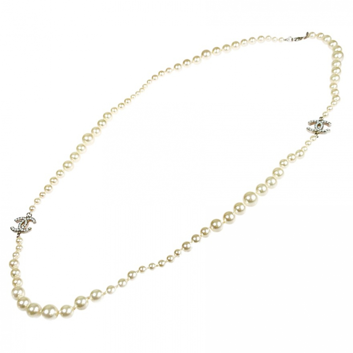 Chanel - Sautoir   pour femme en perles - blanc