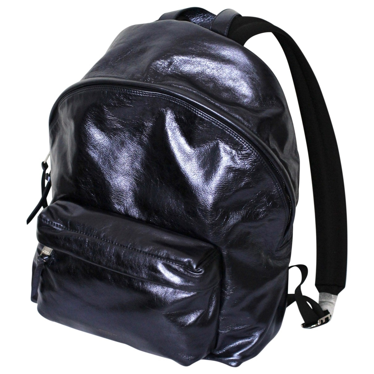 Givenchy \N Blue Patent leather backpack for Women \N
