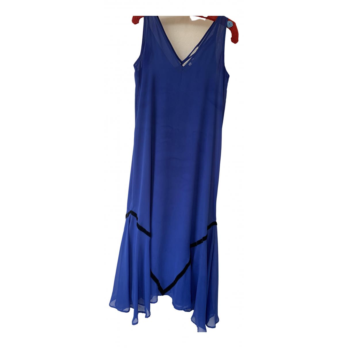 Vassia Kostara \N Kleid in  Blau Synthetik