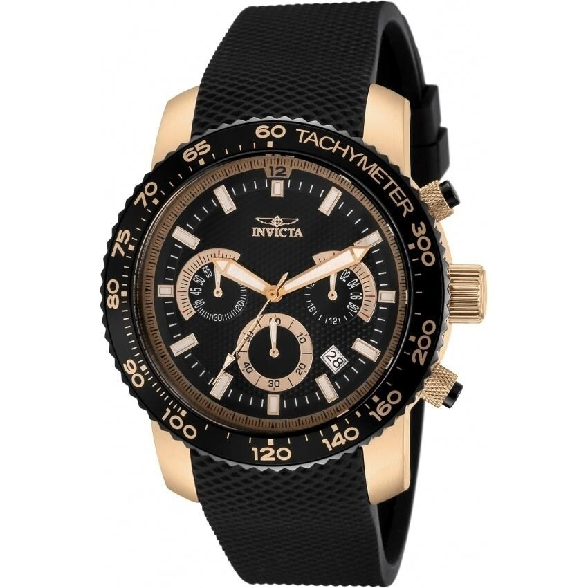 Invicta Men's 11294 'Specialty' Chronograph Black Polyurethane Watch