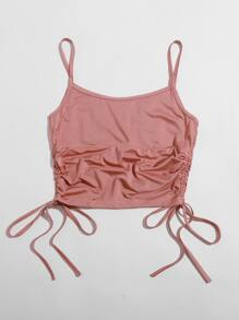 Ruched Bust Drawstring Side Cami Top