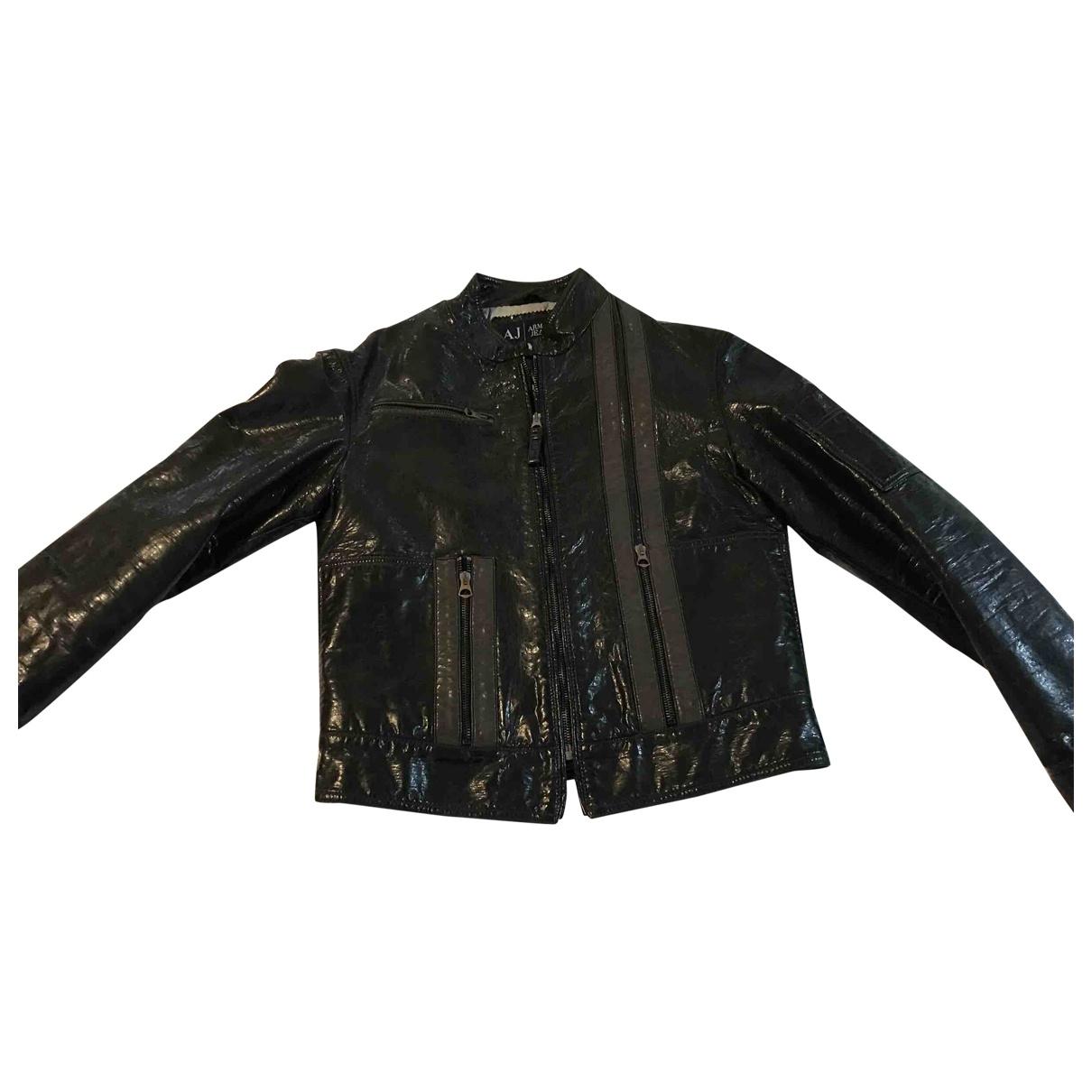 Armani Jeans \N Jacke in  Gruen Polyester