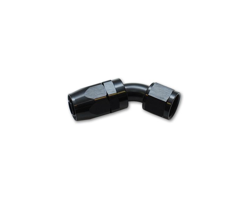 Vibrant Performance 21410 Anodized Black -10AN 45 Degree Swivel Hose End Fitting