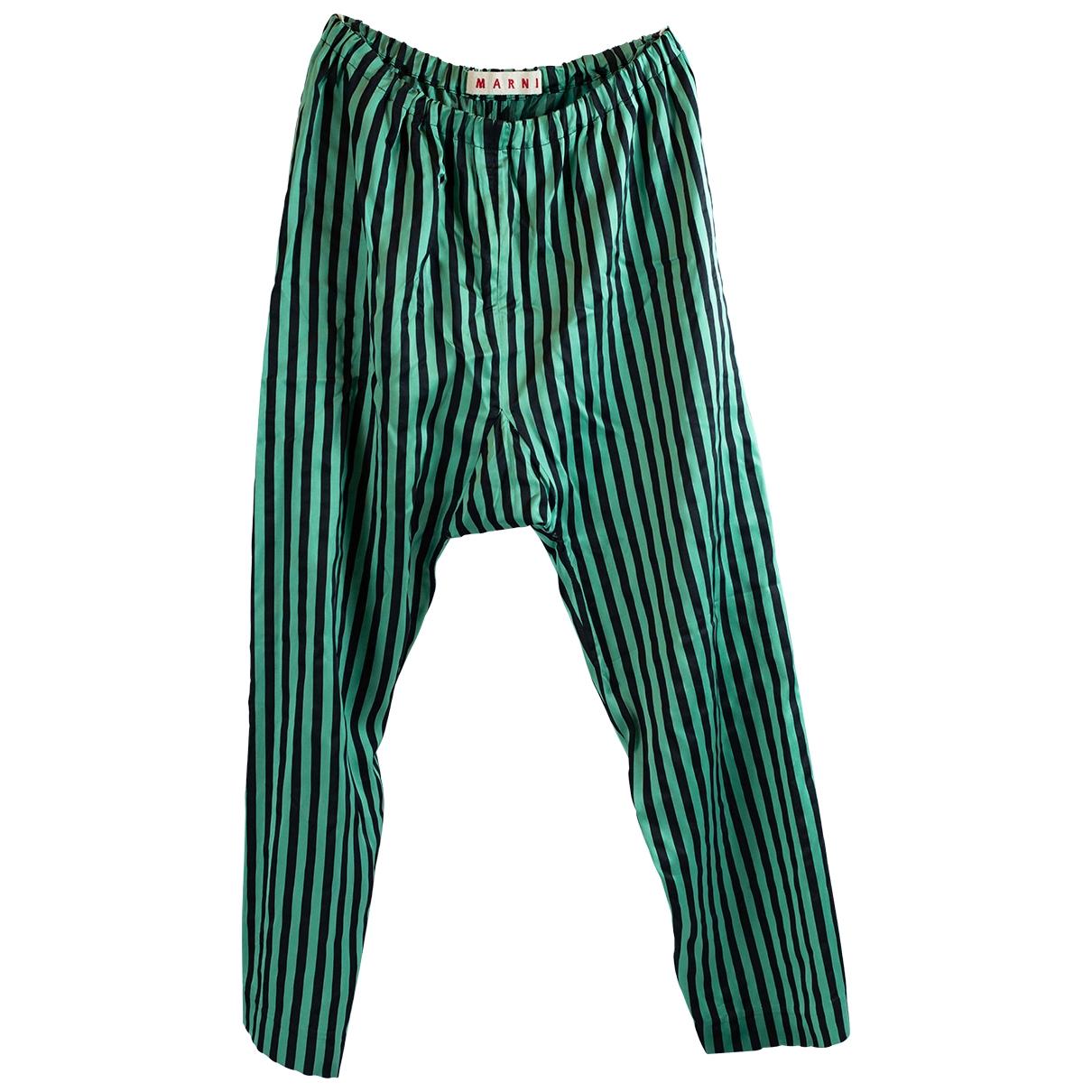 Marni \N Silk Trousers for Women 42 IT