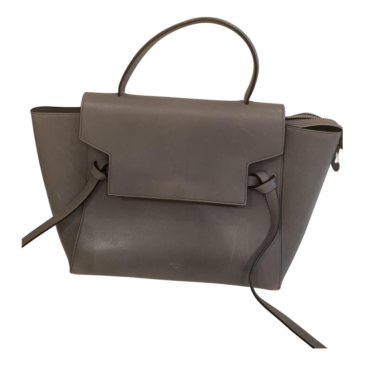 Celine Belt Handtasche in  Grau Leder