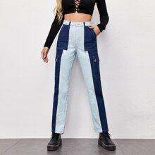 Jeans mit Taschen Klappe