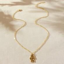Astronaut Pendant Necklace