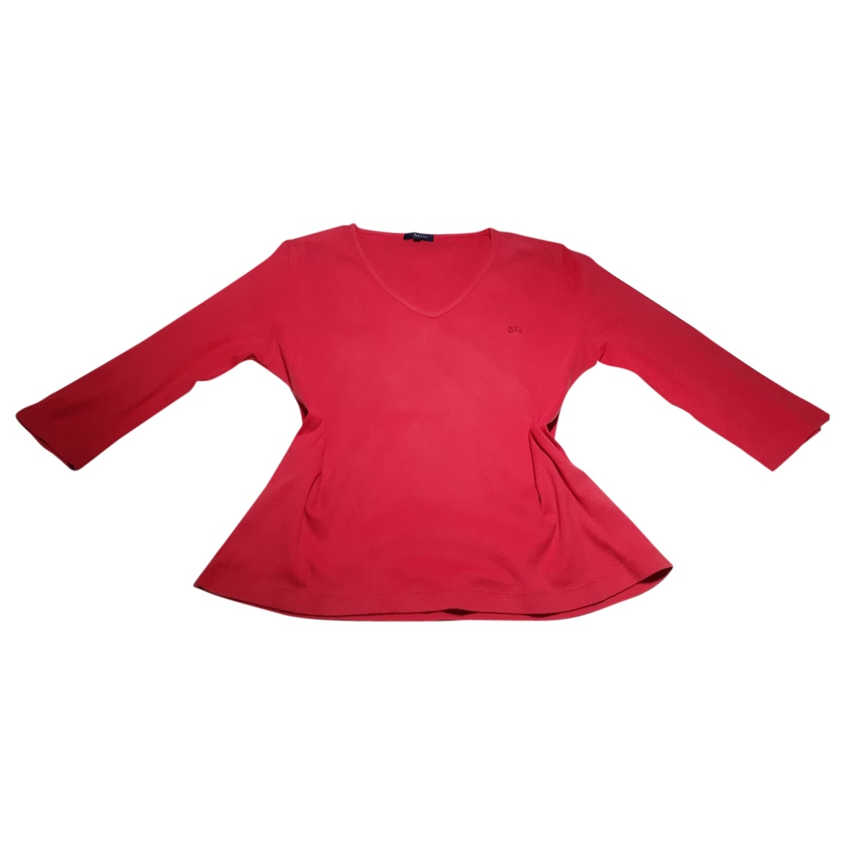 Burberry \N Red Cotton  top for Women 48 FR