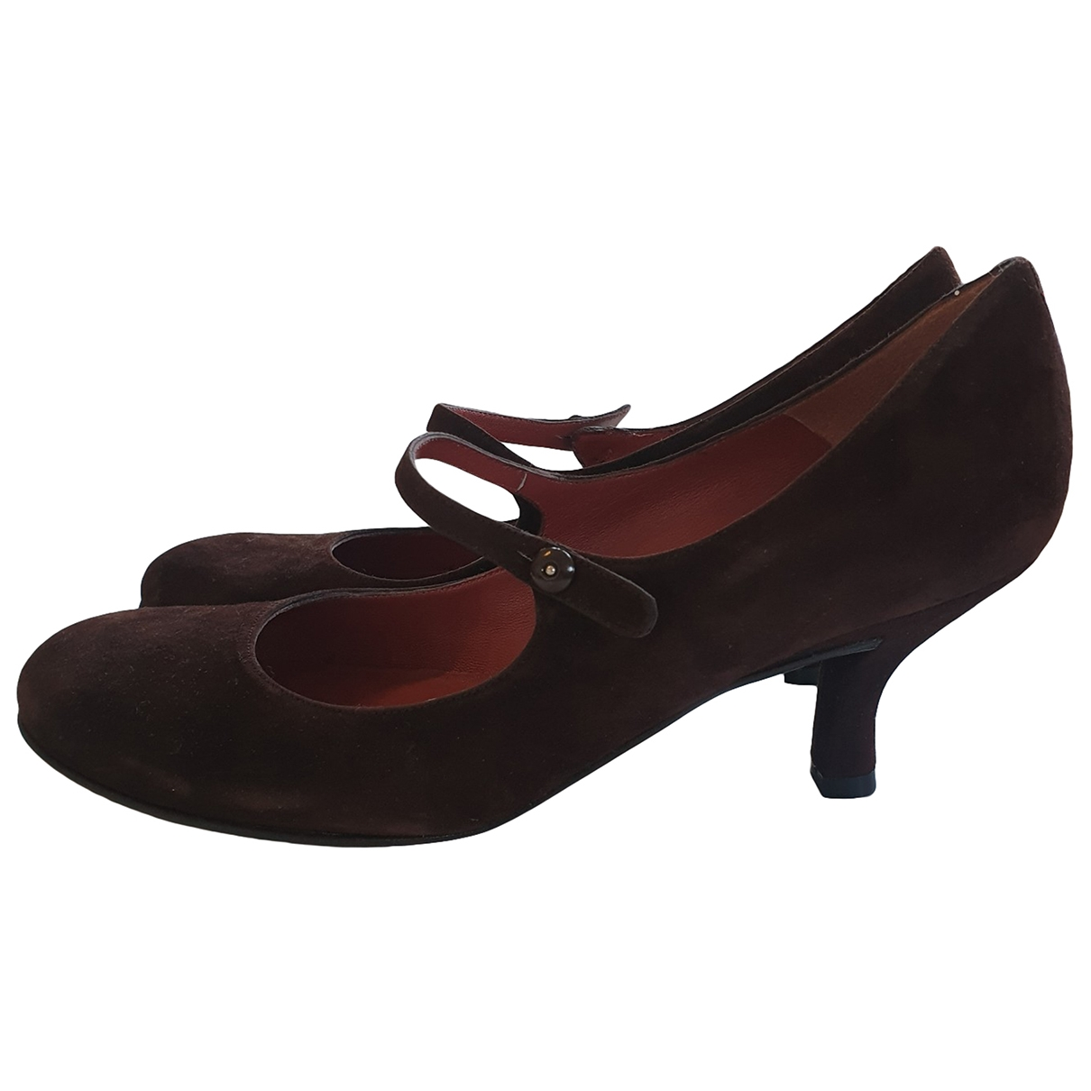 Non Signé / Unsigned \N Brown Suede Heels for Women 38.5 EU