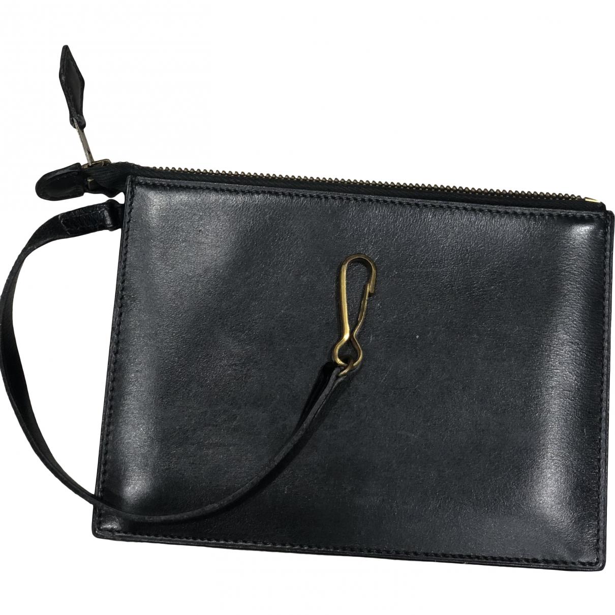 Hermes \N Clutch in  Schwarz Leder