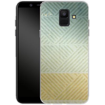Samsung Galaxy A6 Silikon Handyhuelle - Triangles Artifact von Brent Williams