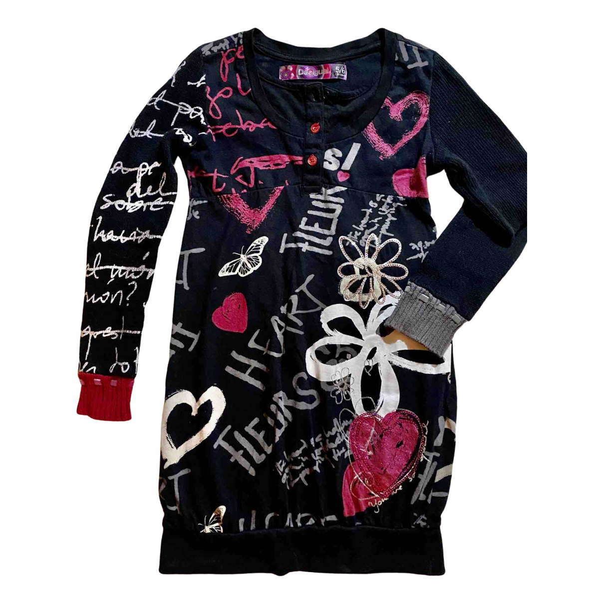Desigual - Robe    pour enfant en coton - noir