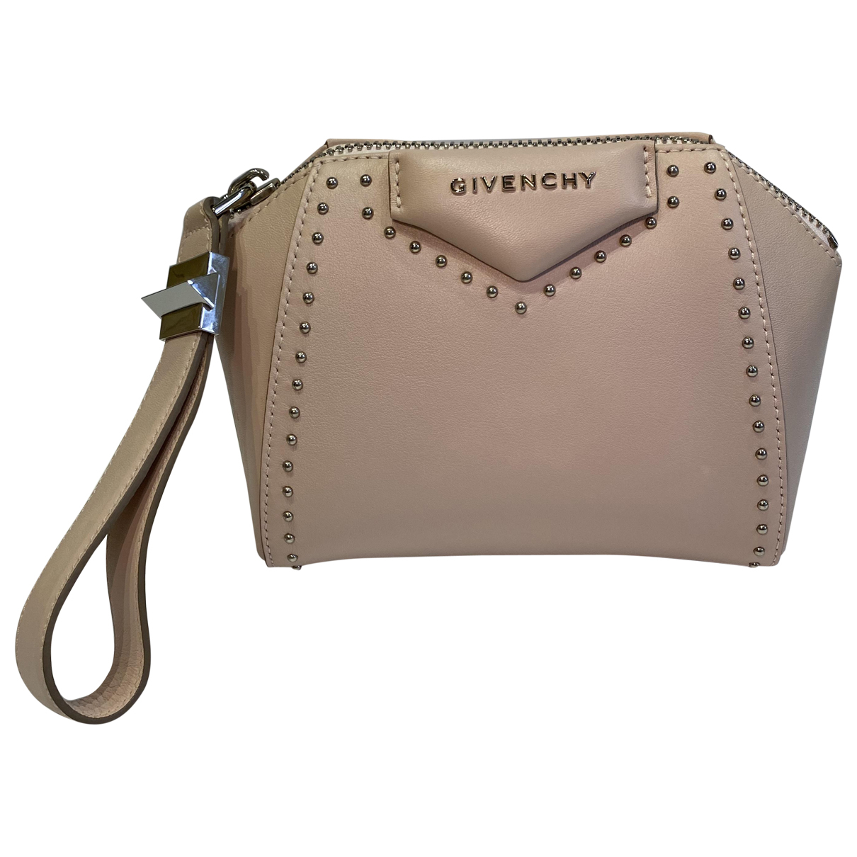 Givenchy - Pochette Antigona pour femme en cuir - rose
