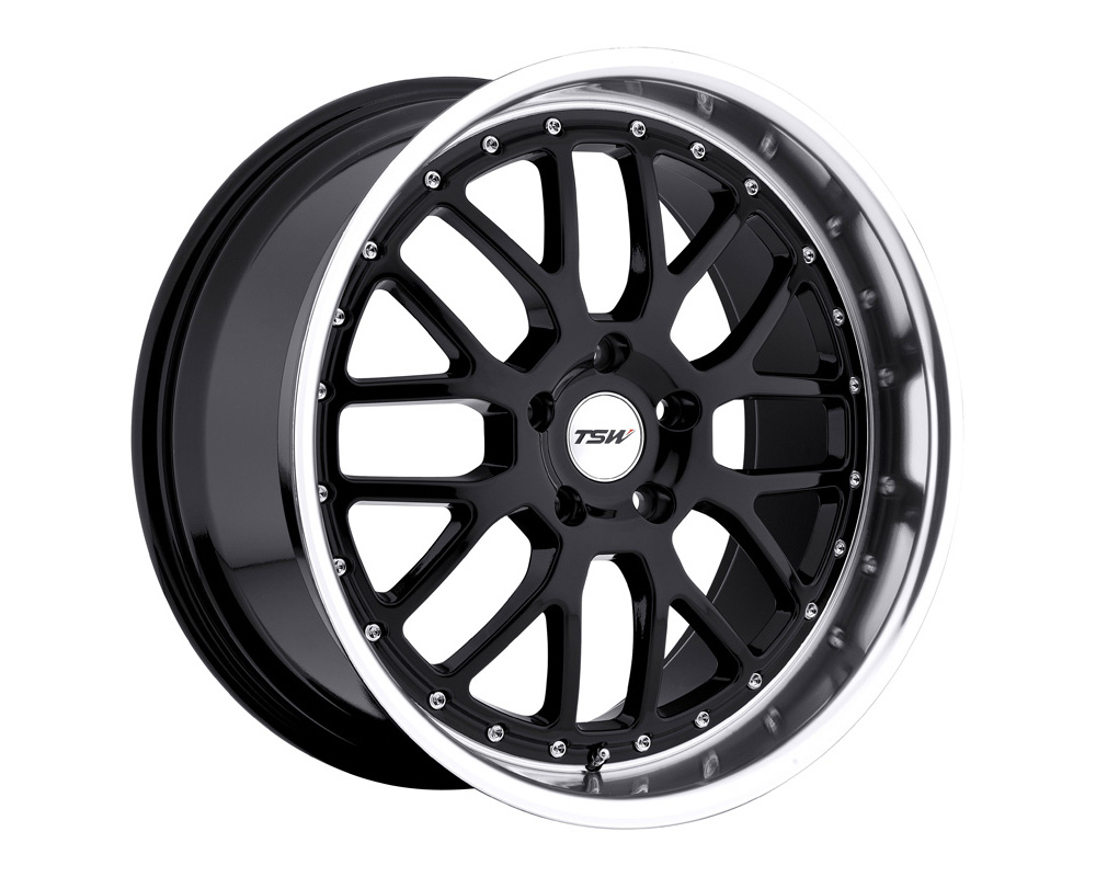 TSW Valencia Wheel 18x9.5 5x114.3 40mm Gloss Black w/ Mirror Cut Lip