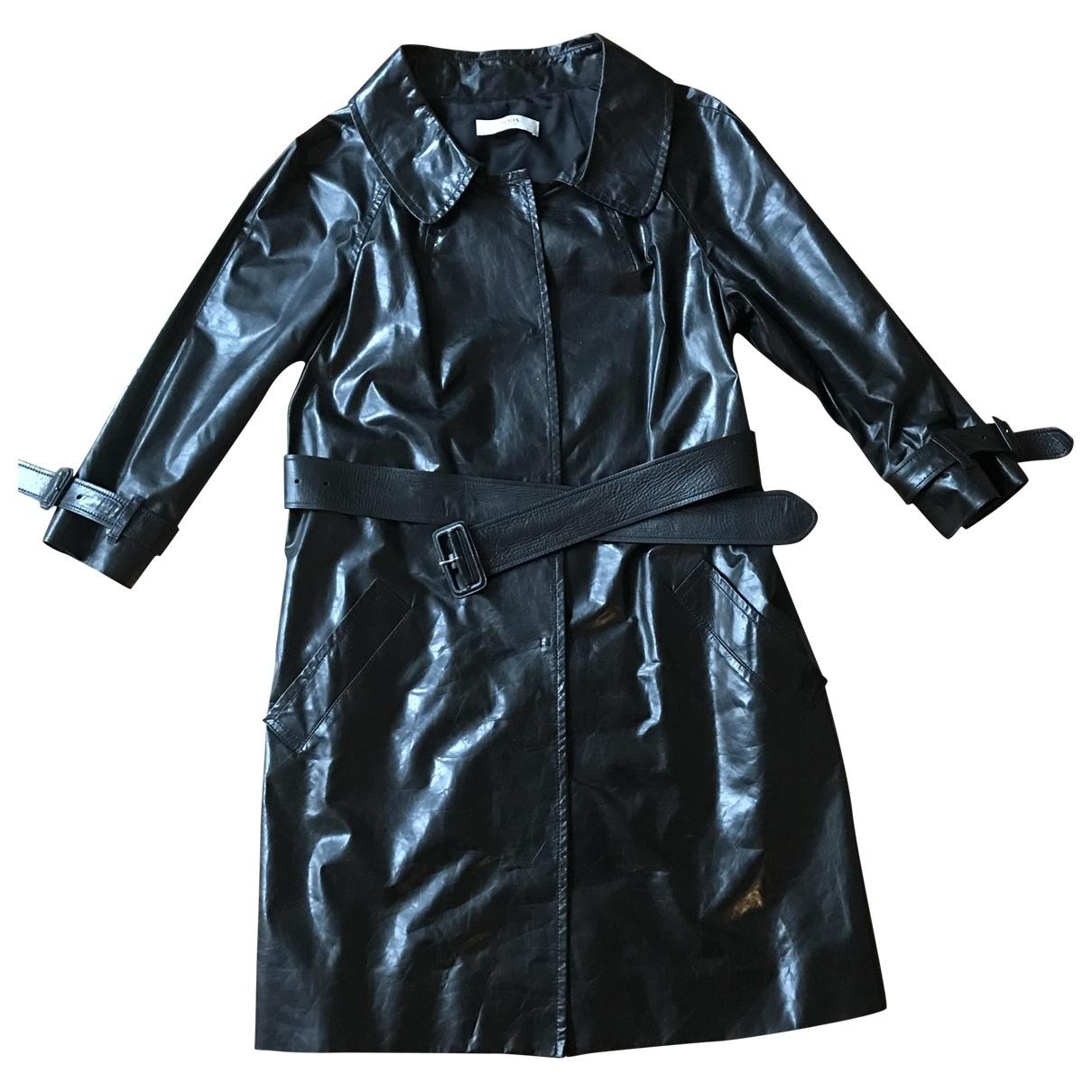 Prada - Trench   pour femme en cuir - noir