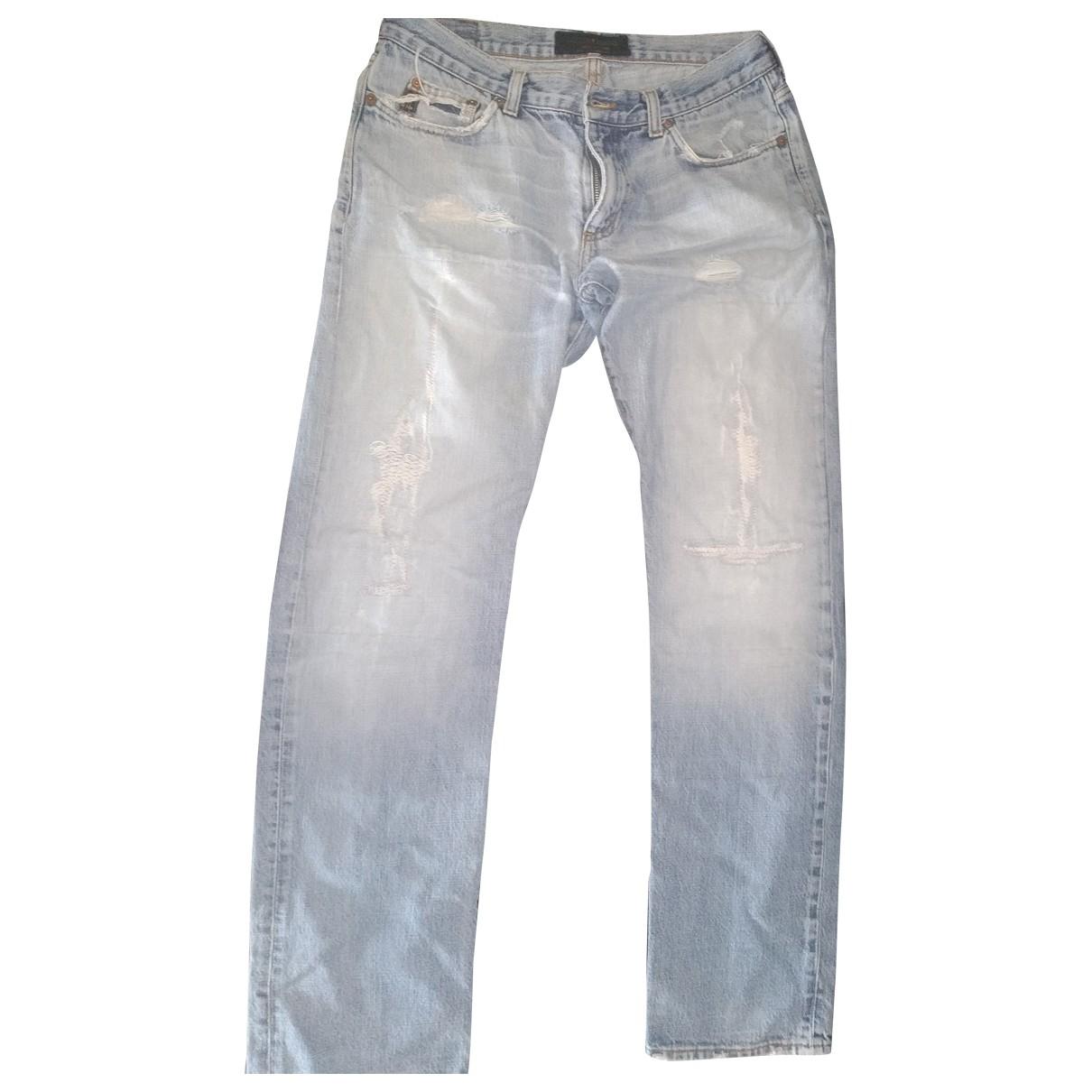 Guess \N Blue Cotton Jeans for Men 32 US