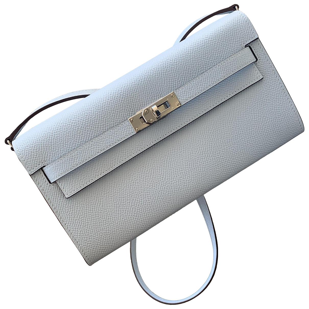 Hermès Kelly to go Blue Leather Clutch bag for Women \N