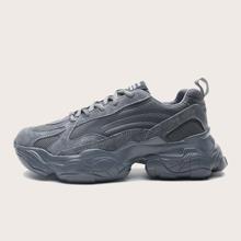 Guys Mesh Panel Chunky Sneakers
