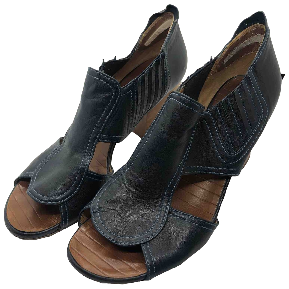 Chie Mihara \N Navy Leather Sandals for Women 41 EU