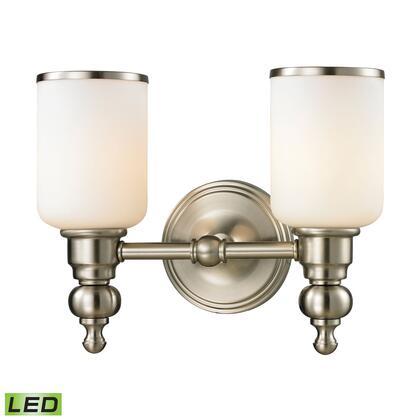11581/2-LED Bristol Collection 2 Light bath in Brushed Nickel-