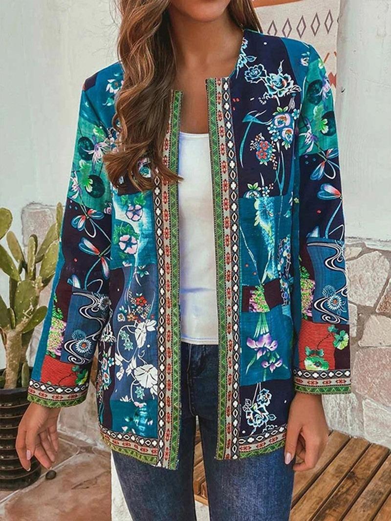 Ericdress Loose Long Sleeve Thin Regular Mid-Length Jacket