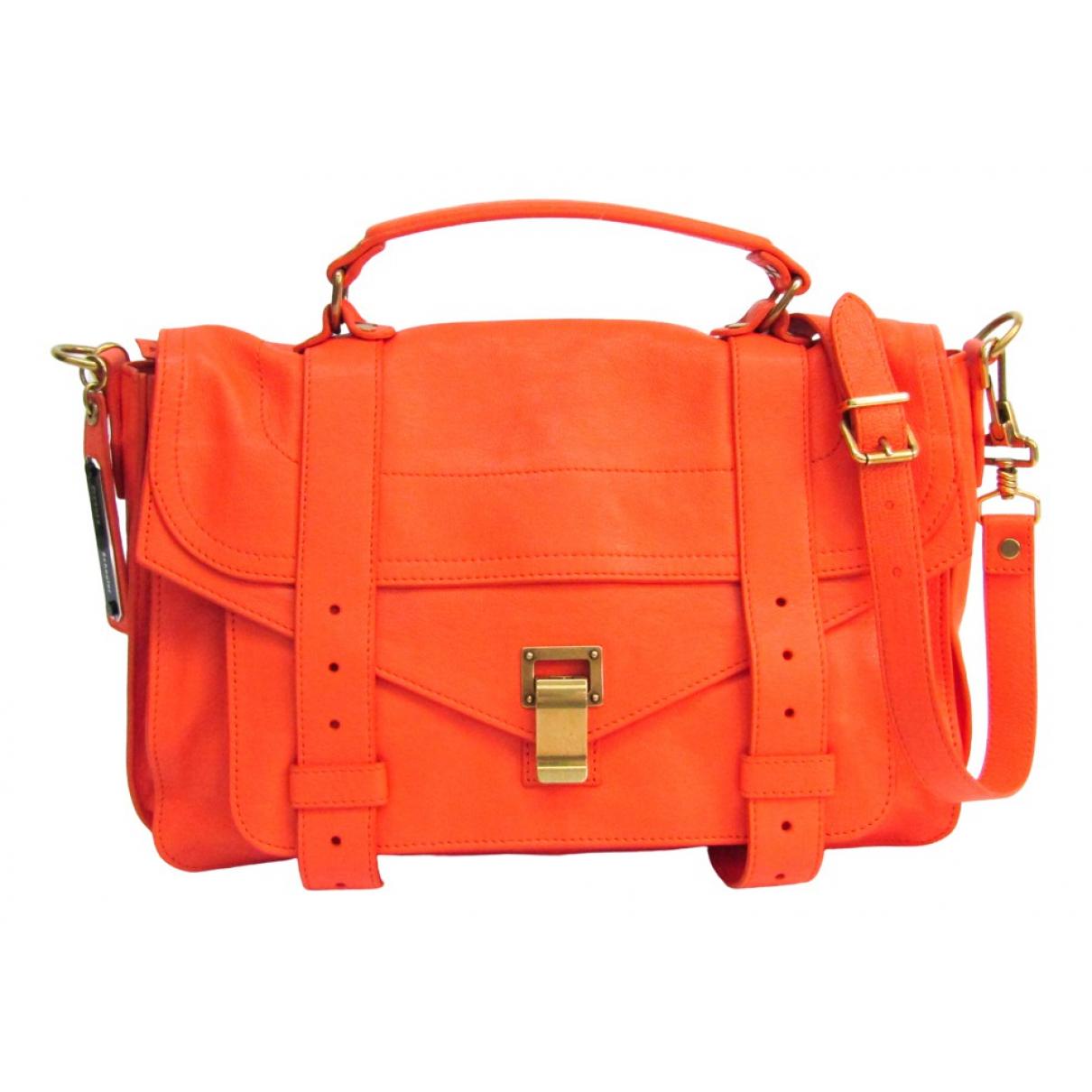 Proenza Schouler PS1 Handtasche in  Orange Leder