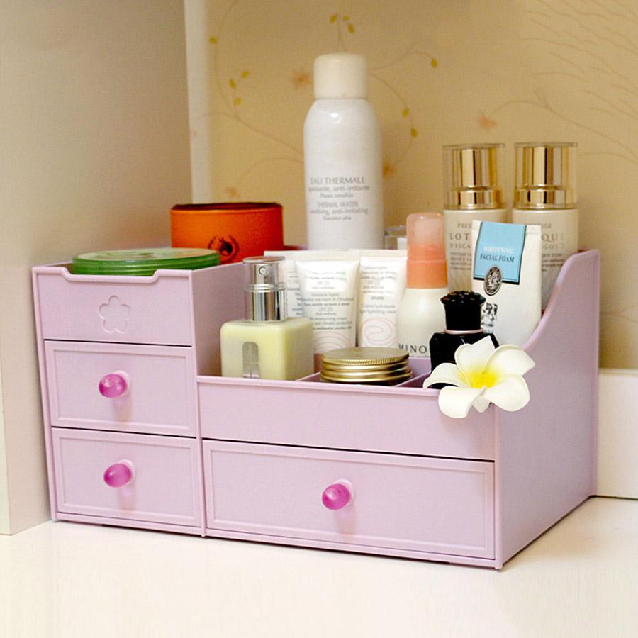 Drawer Type Cosmetics Large Simple Style Storage Box