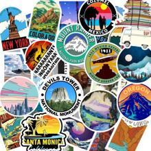 100pcs Outdoor Scenery Pattern Sticker