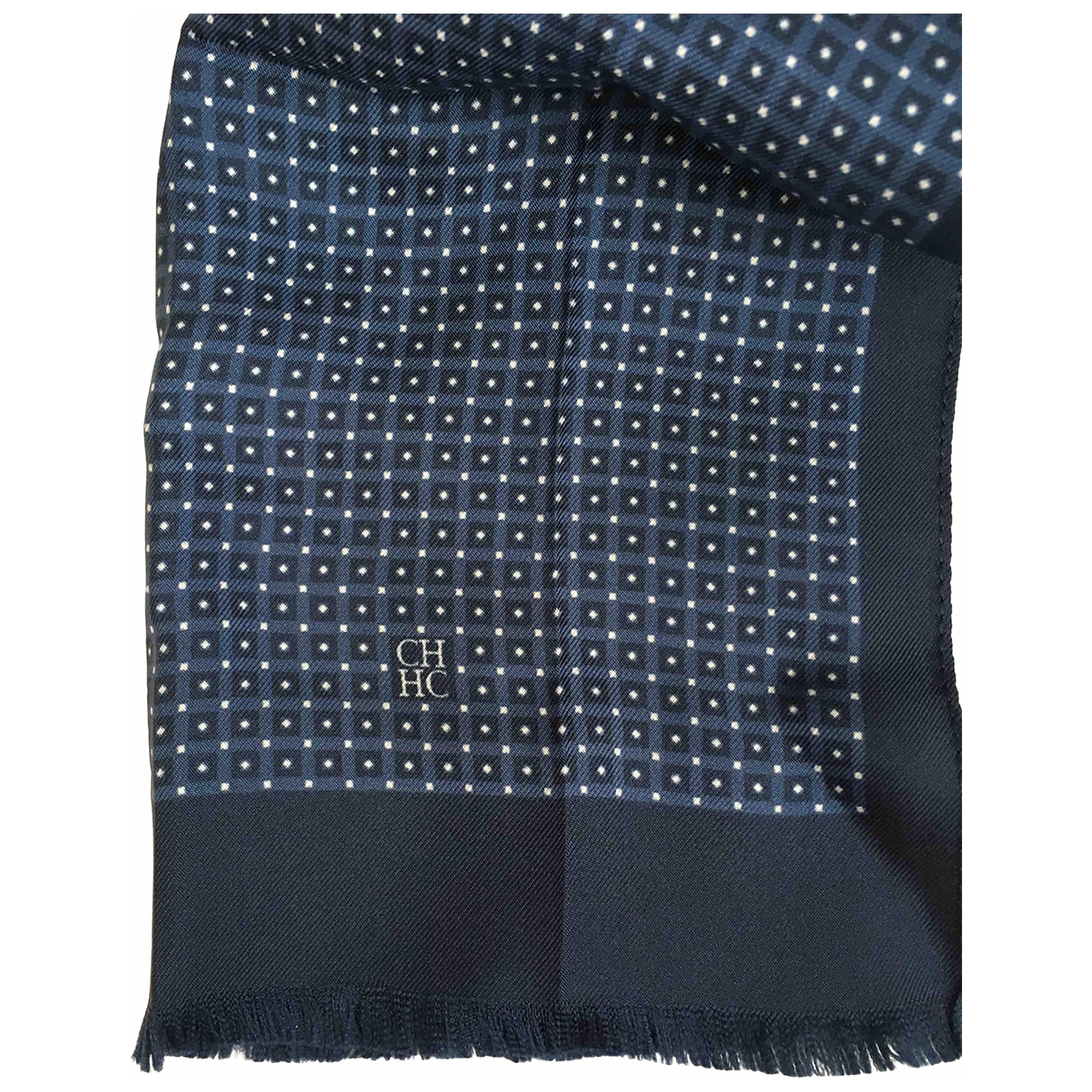 Carolina Herrera \N Navy Linen scarf for Women \N