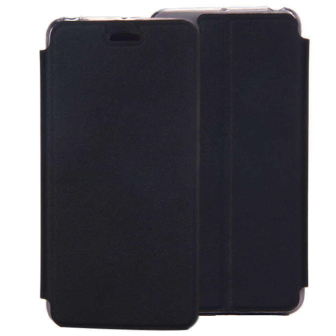 Protective Cover Flip Stand Leather Case for Lenovo S90 High Quality - Black