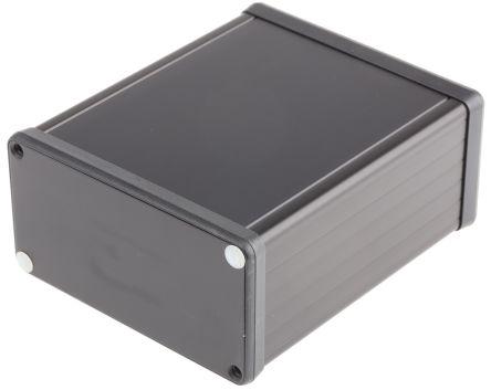 Hammond 1455, Black Aluminium Enclosure, 120 x 103 x 53mm