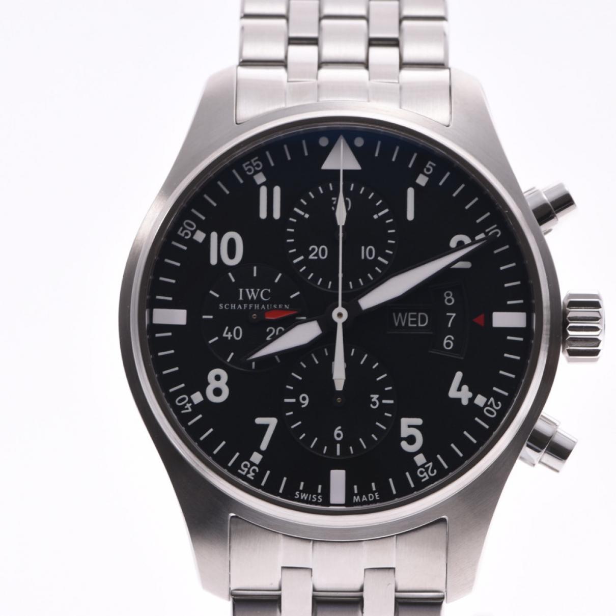 Iwc Pilot Uhr in  Silber Stahl