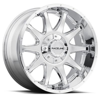Raceline Wheels Shift, 17x8 with 5x110 and 5x4.5 Bolt Pattern - Chrome - 930C-7808835