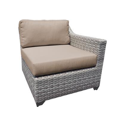 TKC045b-LAS-WHEAT Fairmont Left Arm Sofa with 2 Covers: Beige and