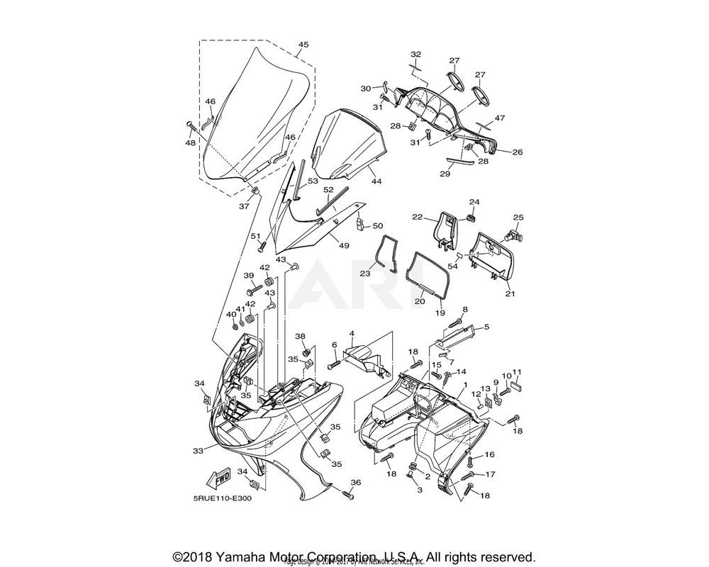 Yamaha OEM 5RU-28351-00-P2 BODY, COWLING | FOR DBNM8