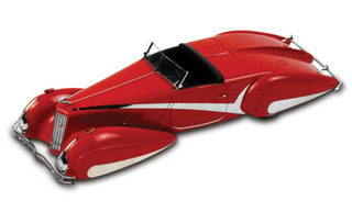 1934 Cadillac V-16 Hartmann Roadster Red 1/43 Diecast Car Model by True Scale Miniatures