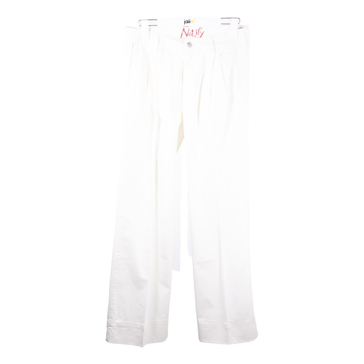 Notify N White Cotton Jeans for Women 38 FR