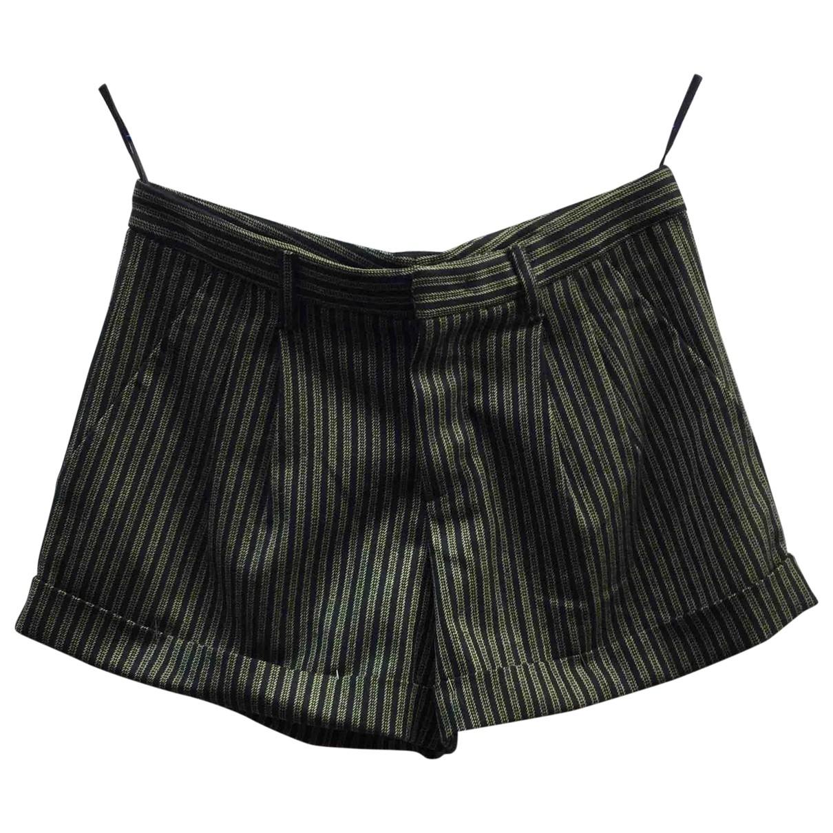 Miu Miu \N Shorts in  Khaki Wolle