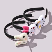 3 piezas aro de pelo de niñitas con diseño de conejo