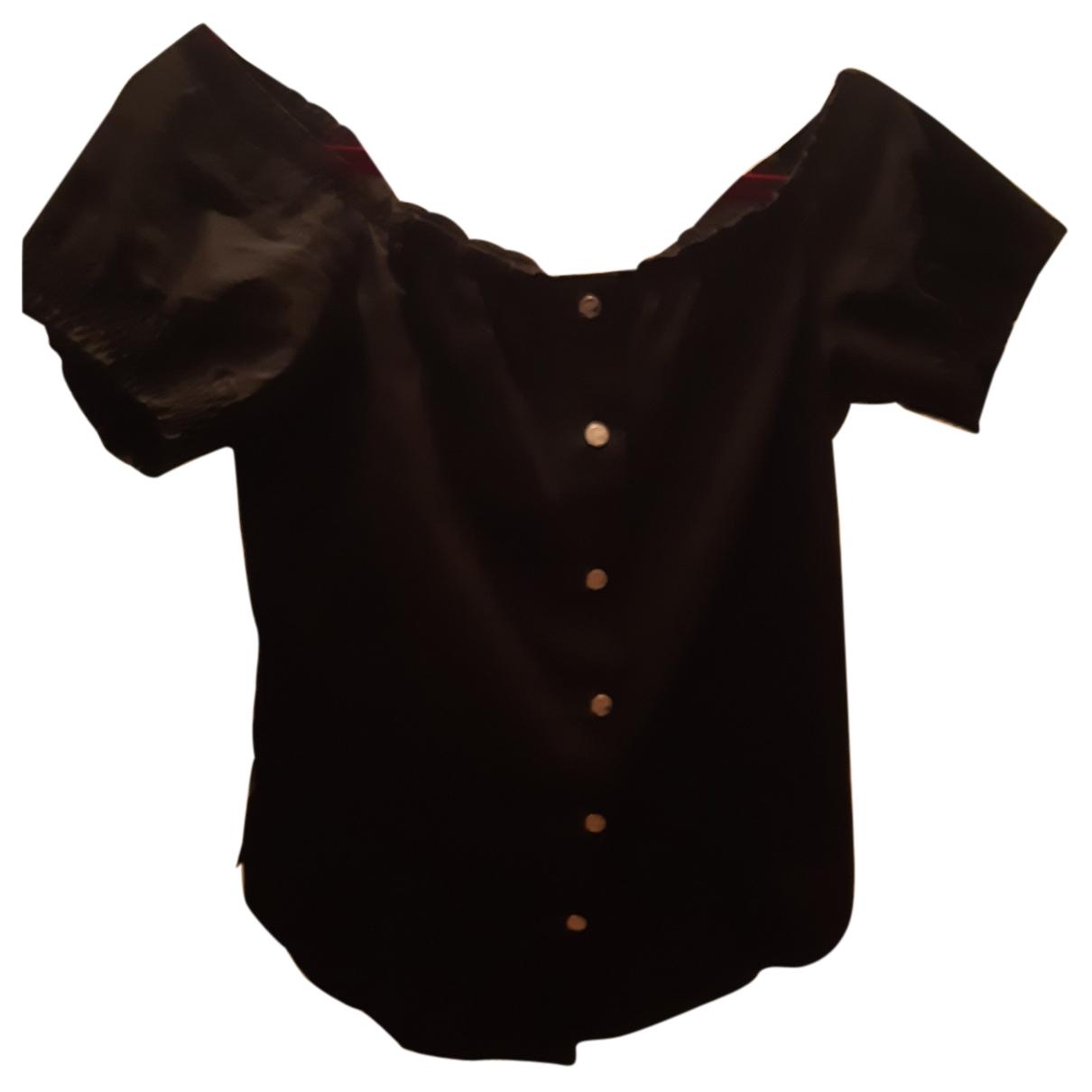 Versace - Top   pour femme en coton - noir