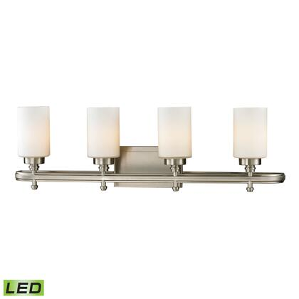 11663/4-LED Dawson Collection 4 Light bath in Brushed Nickel -