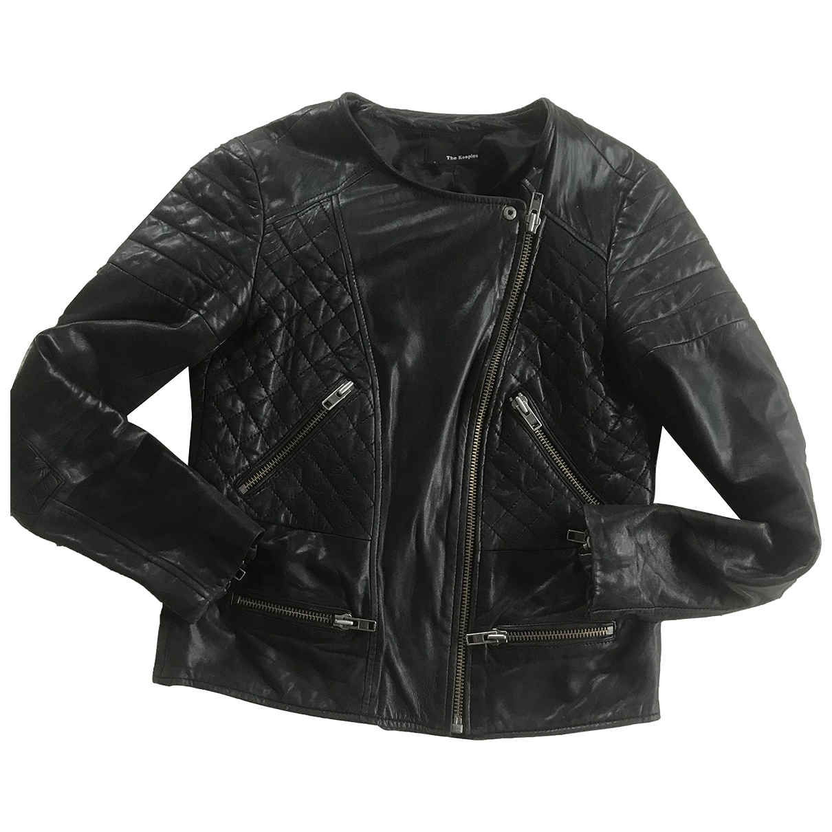 The Kooples \N Lederjacke in  Schwarz Leder