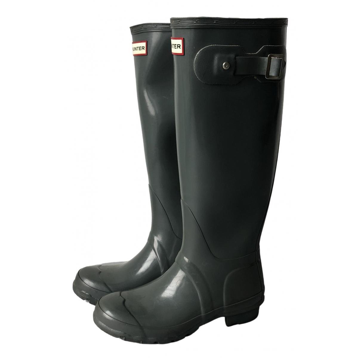 Hunter \N Stiefel in  Grau Kunststoff